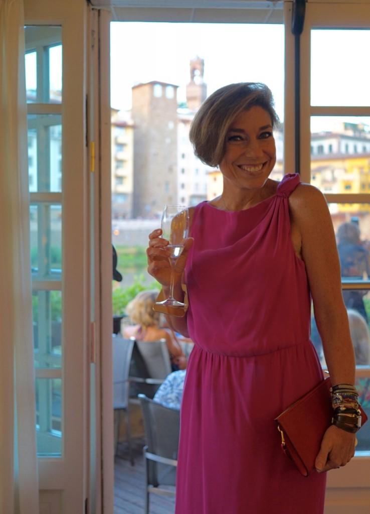 O Hotel Lungarno, onde fica o Borgo San Jacopo, tem um saguão lindo onde é super agradável tomar um drink.