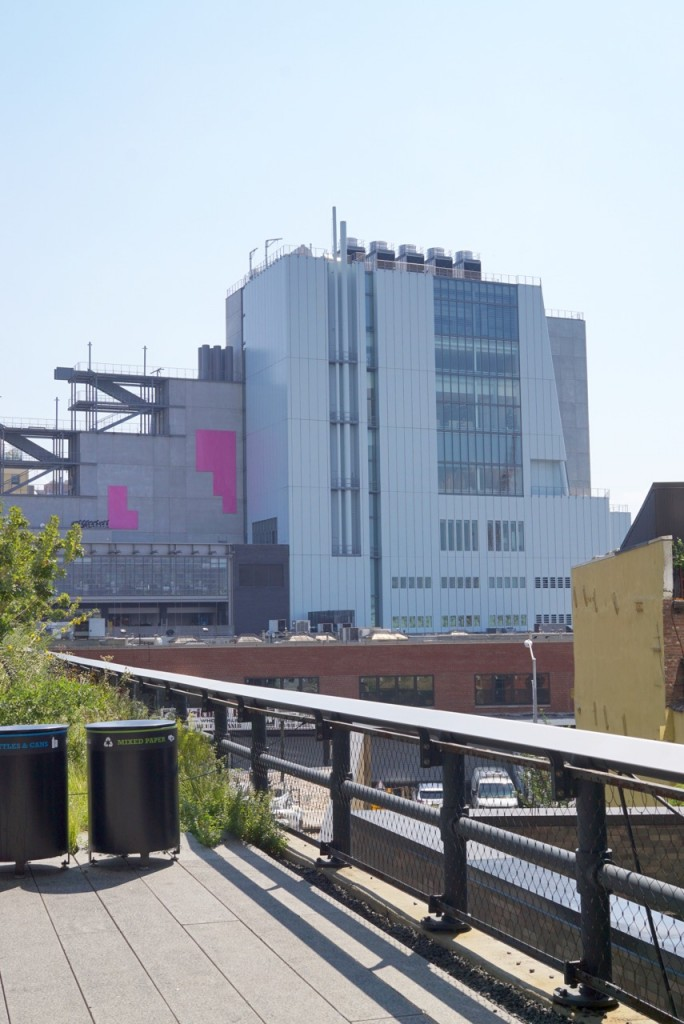 A vista do Whitney Museum do High Line.