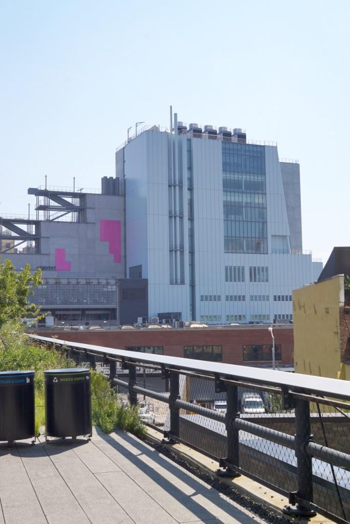 A vista do Whitney Museum do High Line.