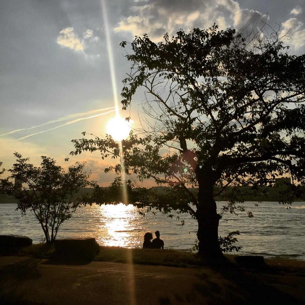 Pôr do sol no Hudson River