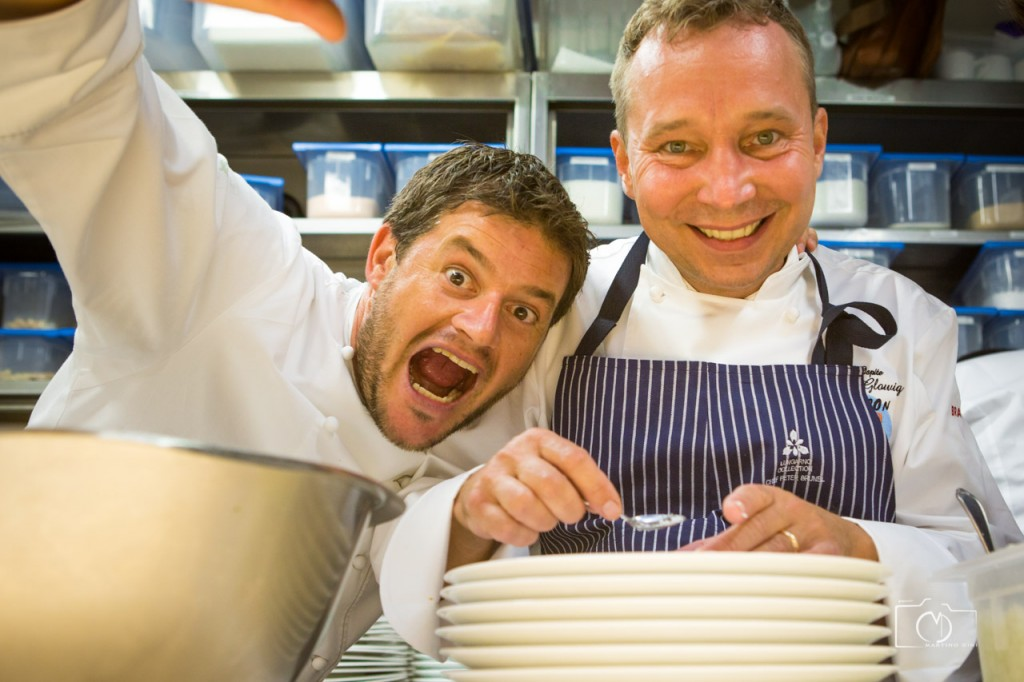 Os chefs Peter Brunel e Oliver Glowig