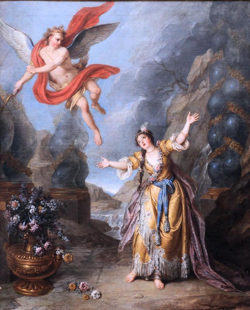 E por fim, Eros abandona Psyché, por Charles-Antoine Coypel