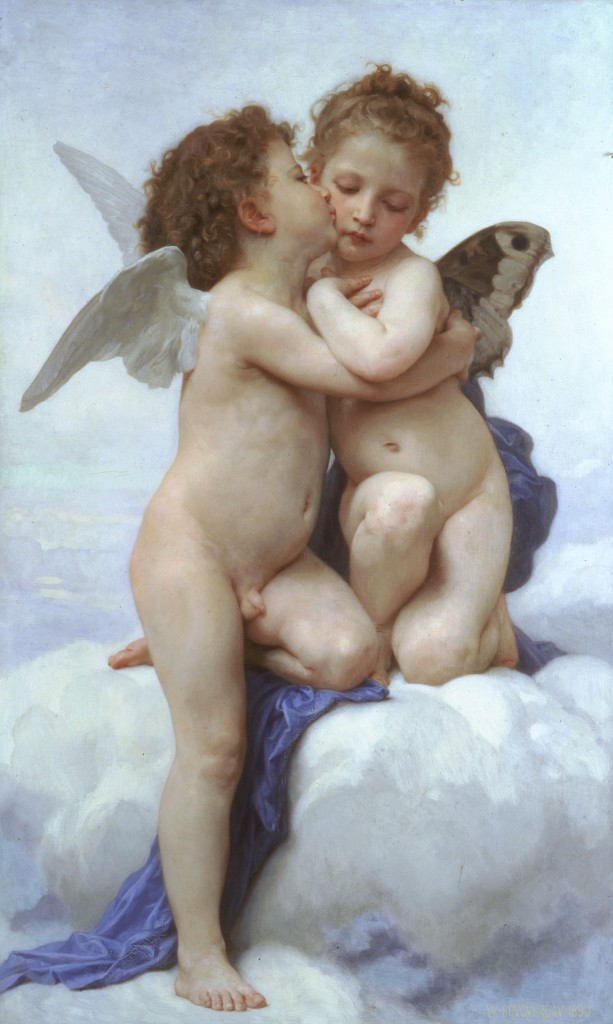Eros e Psyche enfants Bouguereau
