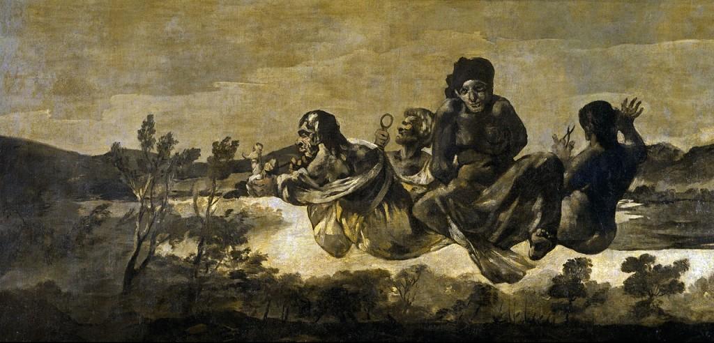 """""""Átropos"""" ou """"As Parcas"""" (1819/23), Museo del Prado, Madrid. Dando ênfase ao perturbador, ao visceral, ao exuberante, carregado, excessivo, ao teatral, o gênero artístico denominado Barroco traz uma nova mensagem pictórica através de personalidades atormentadas."""