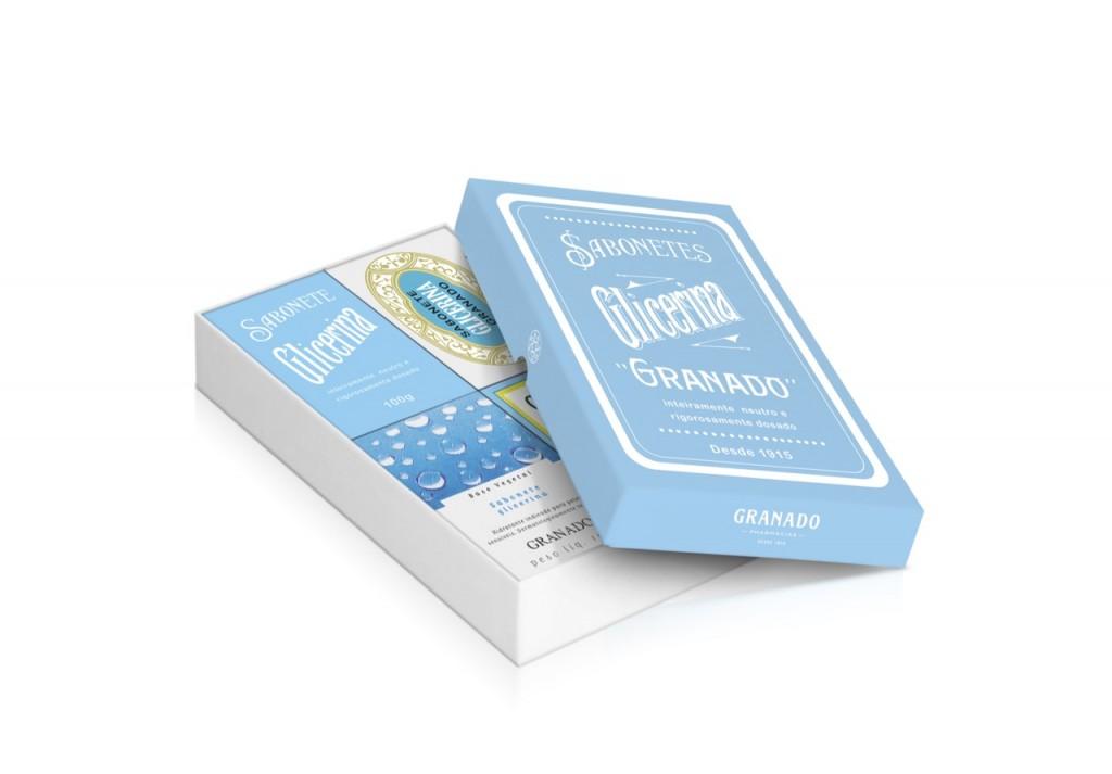 O sabonete de glicerina pura está fazendo 100 anos e tem uma caixa comemorativa com as suas 4 embalagens nestes anos!