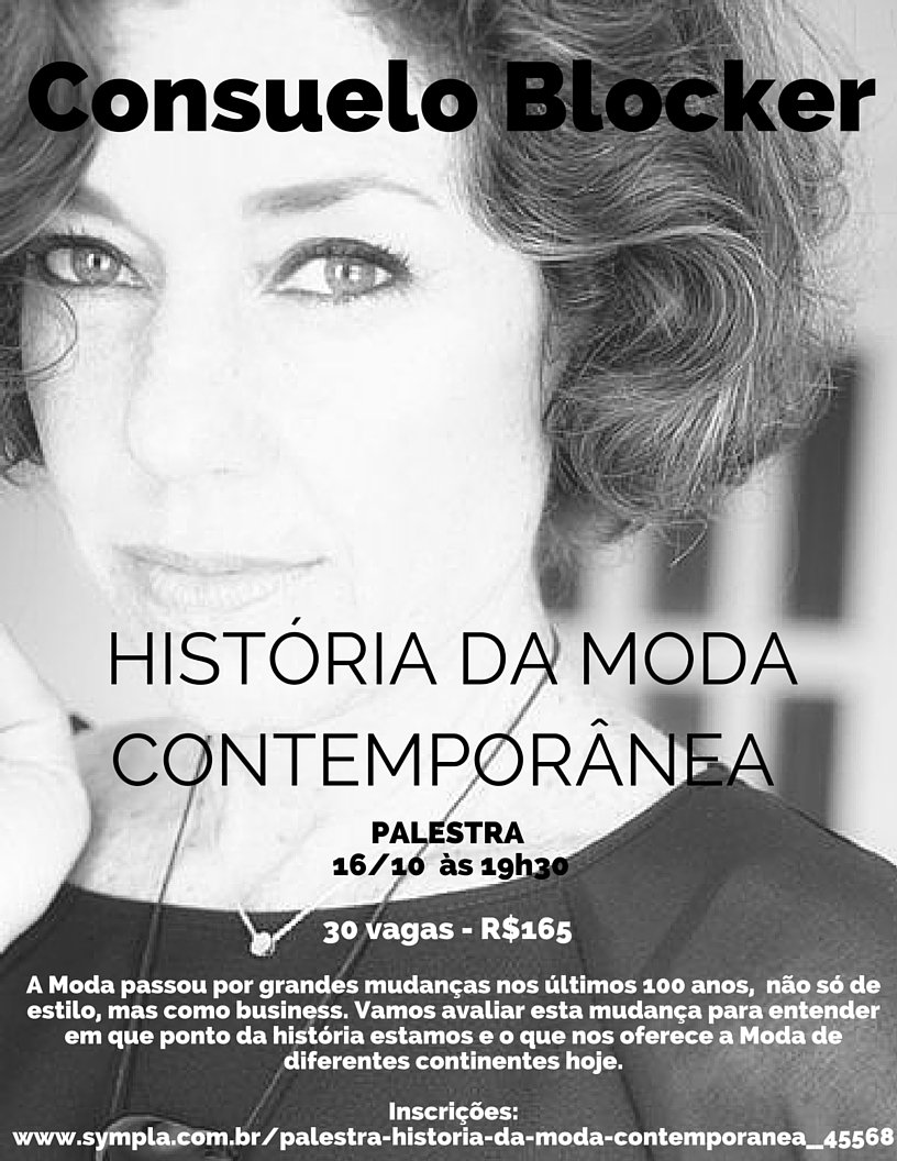 Palestra e Workshop por mim em São Paulo!!  Quem vem?…