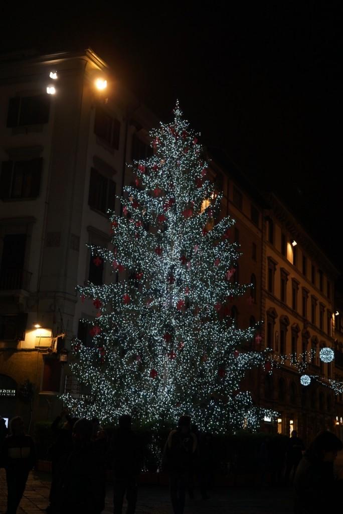 Árvore de Natal na praça do Duomo de Florença