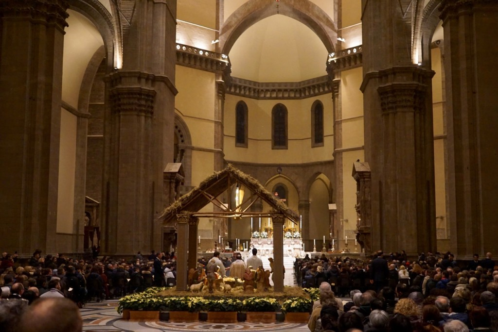 A missa do Galo com o presépio