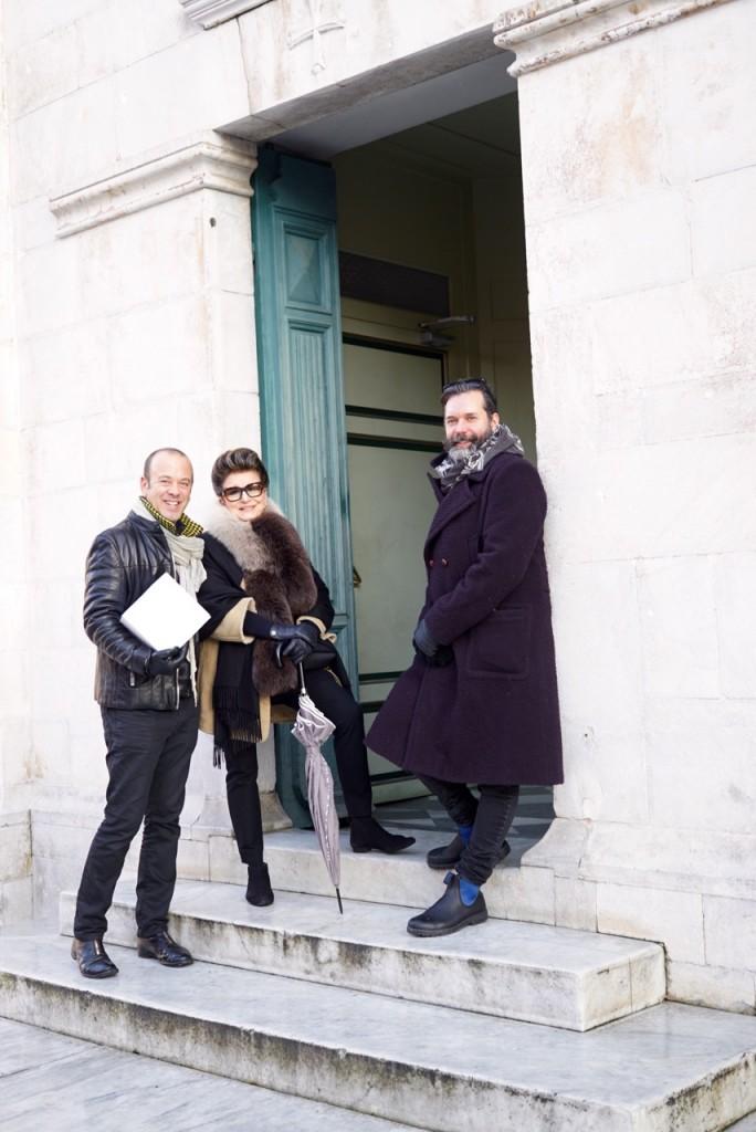 Costanza com nossos amigos Brad e Paul