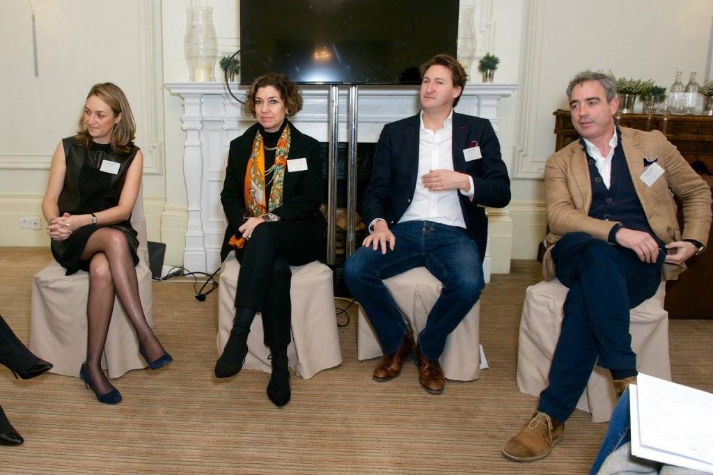 O painel no seminário da Walpole em Londres onde falamos sobre o uso de blogs e bloggers no mercado de luxo.