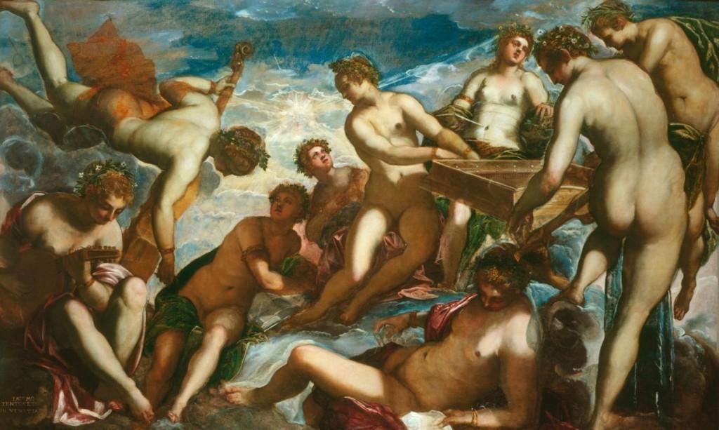 As nove musas são filhas de Mnemósyne (memória) com o soberano do Olimpo, Zeus (Júpiter, Giove). São elas: Urânia (celeste, astronomia e astrologia), Calíope (bela voz, eloquência), Thaléia (festividade, bom humor, abundância, comédia), Terpsícore (dança), Polyhymnia (música sacra), Melpômone (canto, poesia trágica), Euterpe (música, alegria, júbilo), Kleio (história, confere fama, glória) e Érato (encanto, desejo e poesia lírica).