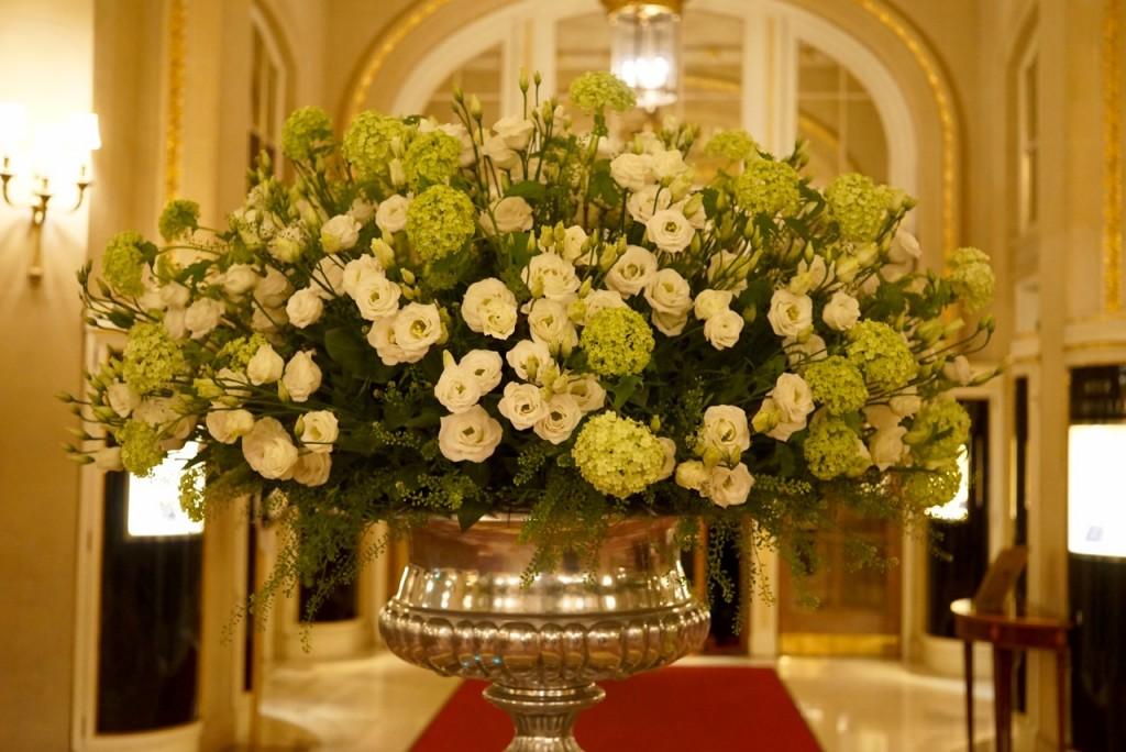 As flores no saguão
