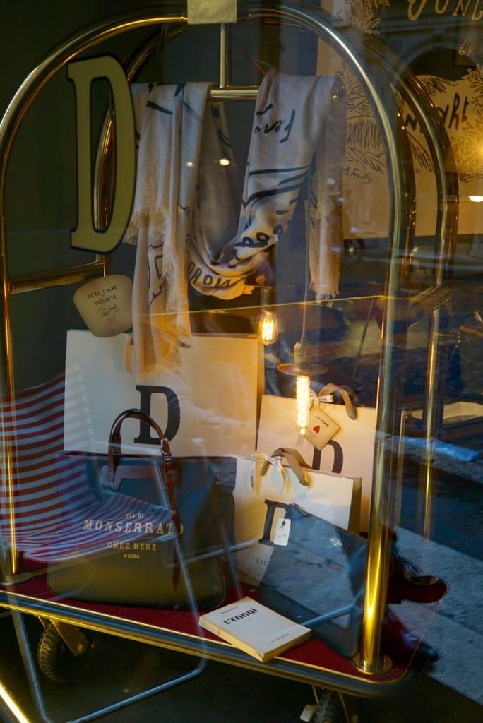 A loja Chez Dedé em Roma