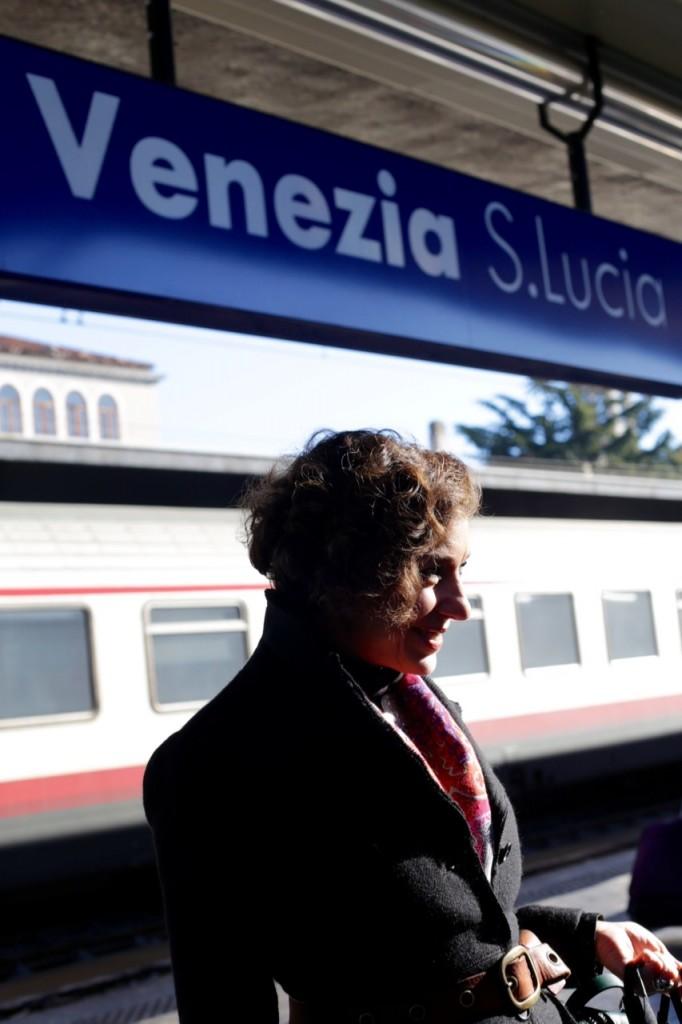 Chegamos de trem de Florença.
