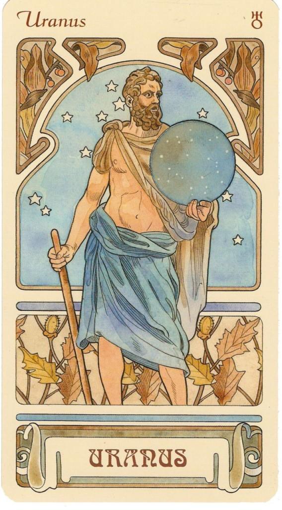 Uranus carta de baralho