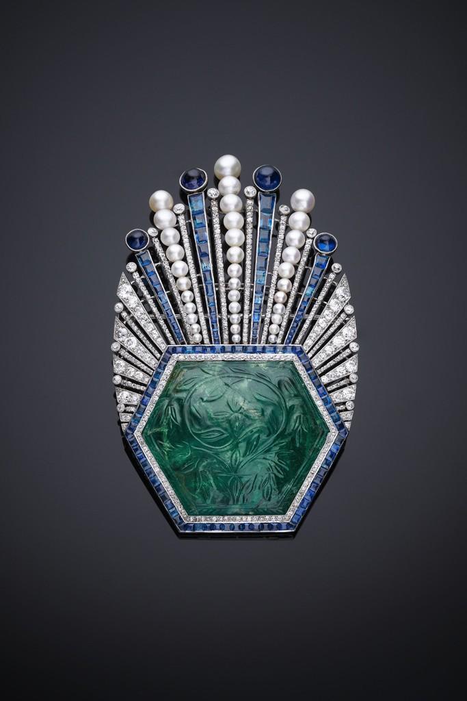 O azul e verde era raramente usado no início do século na Europa.
