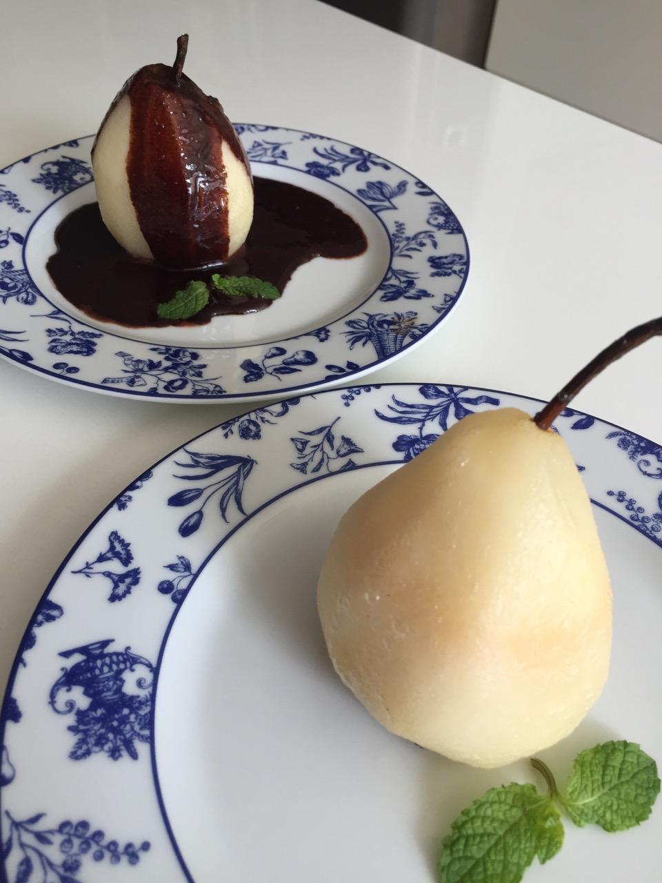 Menu light com a chef Lu! Sobrecoxa de frango, batata doce, abobrinha e pera com chocolate!