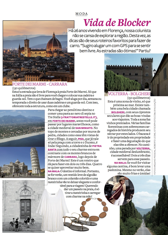 Vida de Blocker: roteiros pela Toscana e como se vestir!