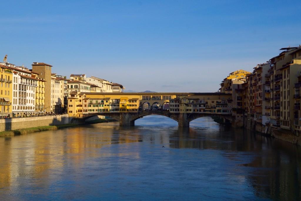 O Ponte Vecchio de longe