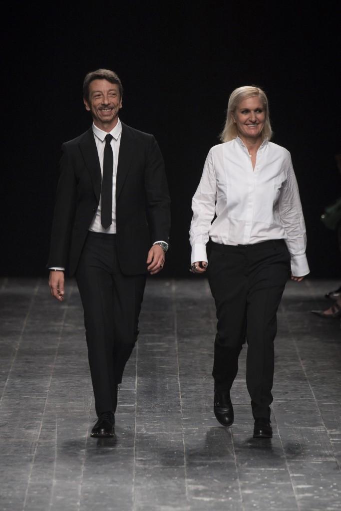 Maria Grazia Chiuri e Pierpaolo Piccioli, diretores criativos da Valentino.