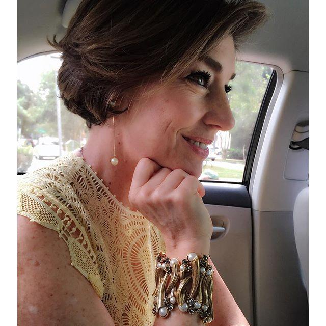Com o vestido de Martha esse bracelete incrível de Claudia Arbex!