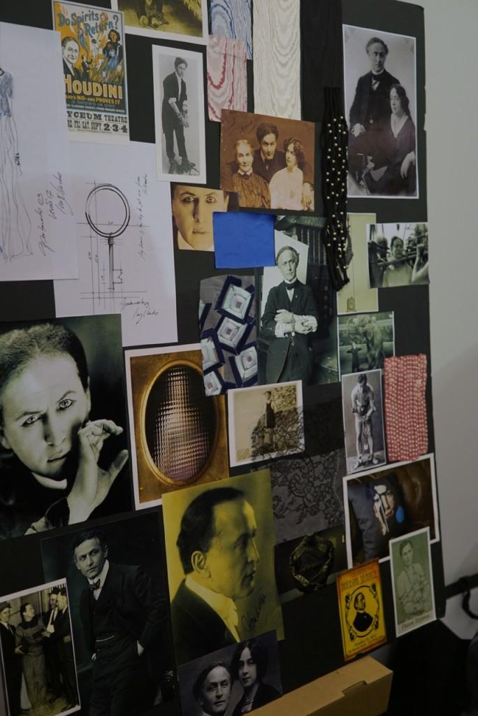 O mood board de Luiz Claudio com Houdini como protagonista