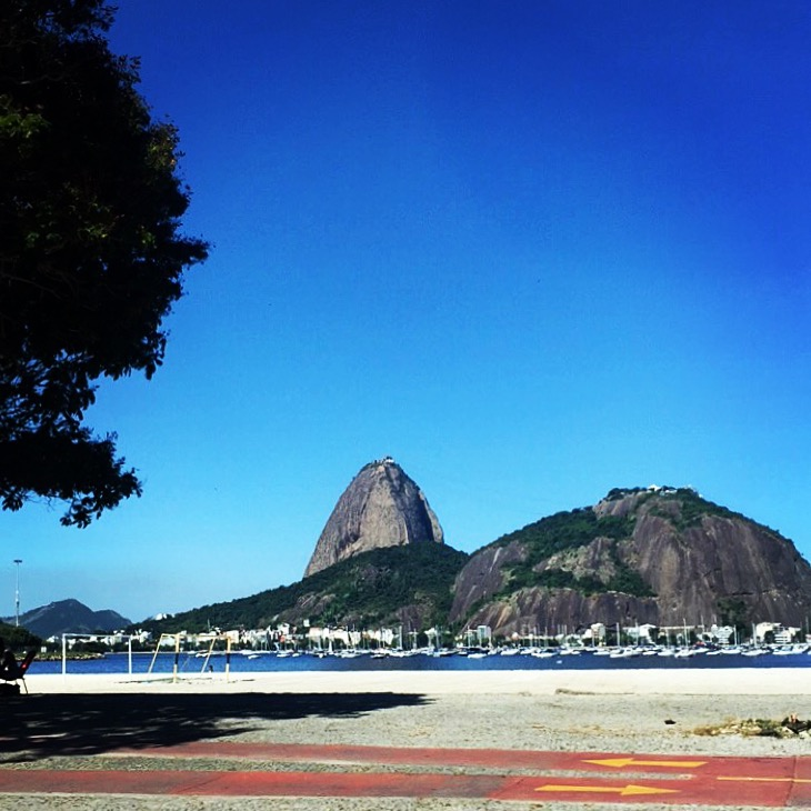 No dia seguinte, a despedida do Rio...