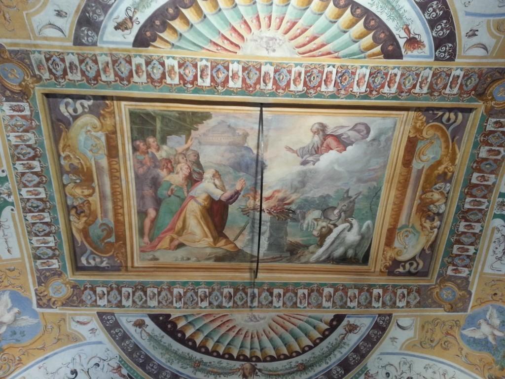 Sacrifício de Isaac por Abraão, afresco no Palazzo da Villa D'Este, em Tivoli. Foto de Luciana Rodrigues, do blog romapravoce.com
