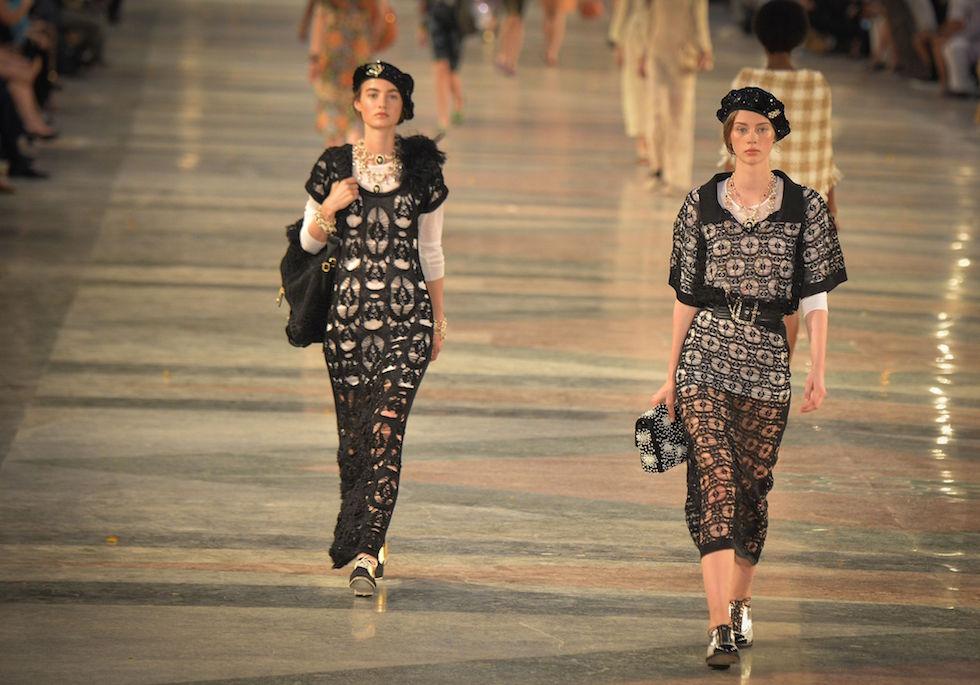 La sfilata di Chanel al Paseo del Prado all'Avana, Cuba, 3 maggio 2016 (ADALBERTO ROQUE/AFP/Getty Images)