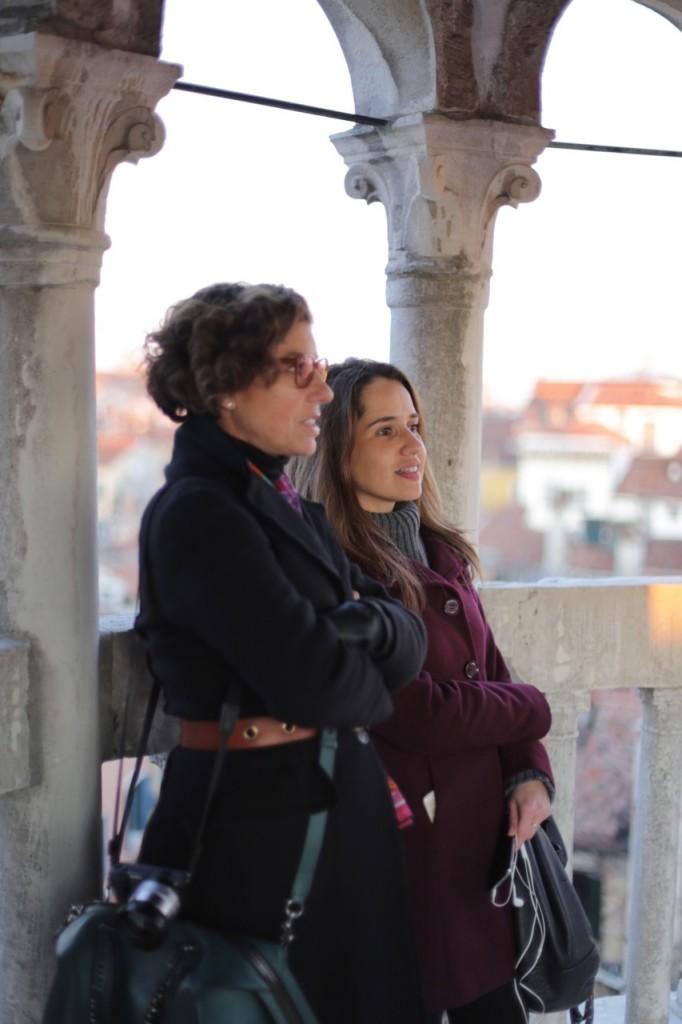 Com a Isa que nos mostrou toda Veneza!