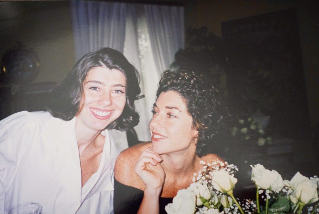 Com minha irmã, Alessandra
