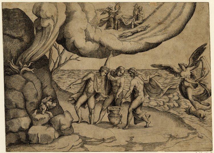 Júpiter, Netuno e Plutão dividindo.