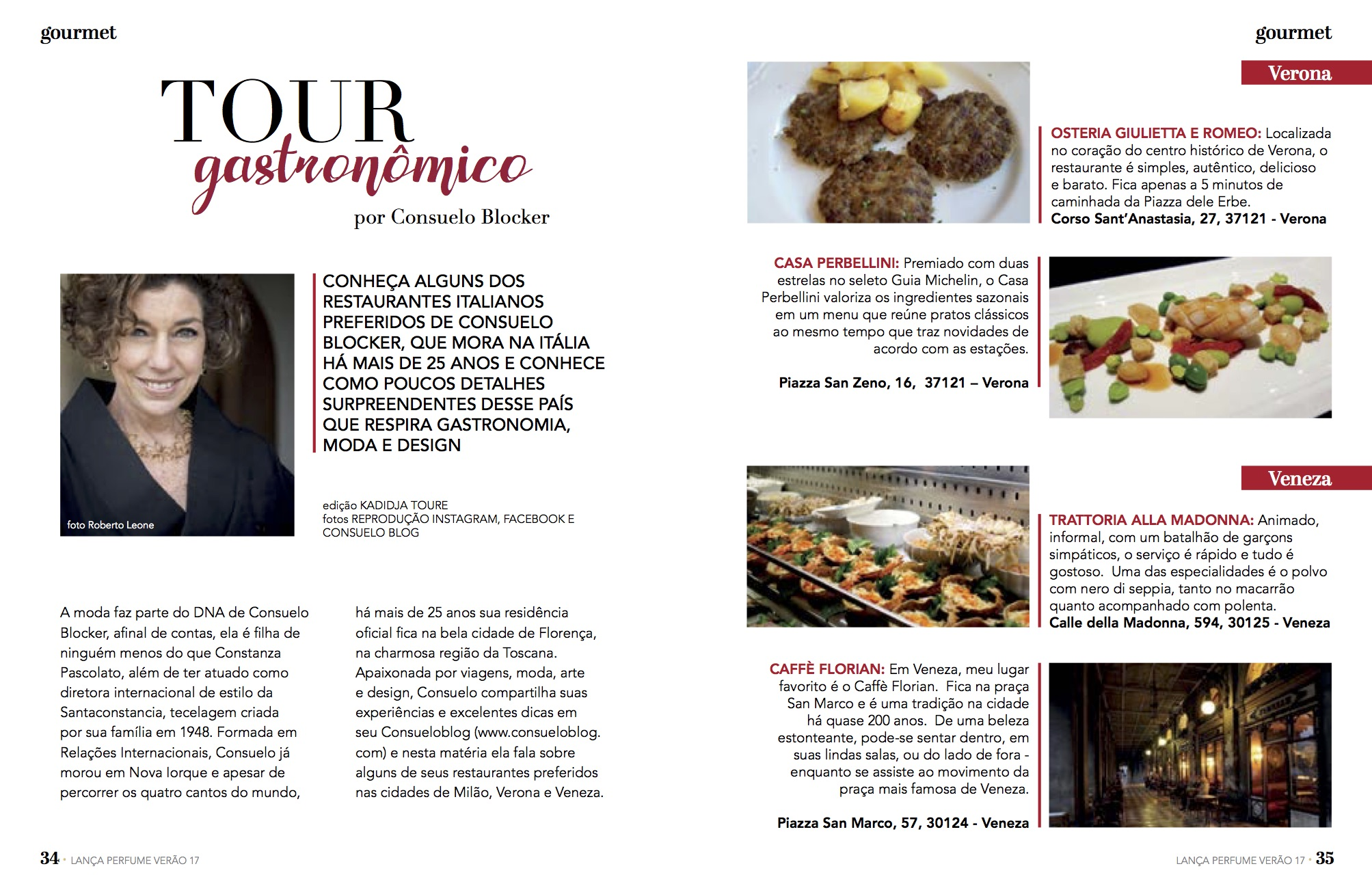Alguns dos meus restaurantes favoritos em Milão, Verona e Veneza