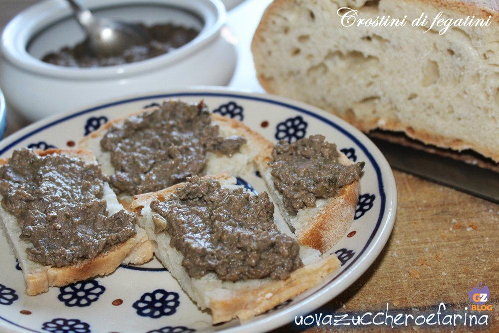 Crostini de fígado Toscano