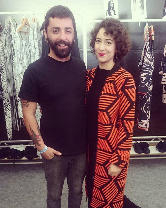 Lucas Magalhães e a ótima stylist Mariana Sucupira