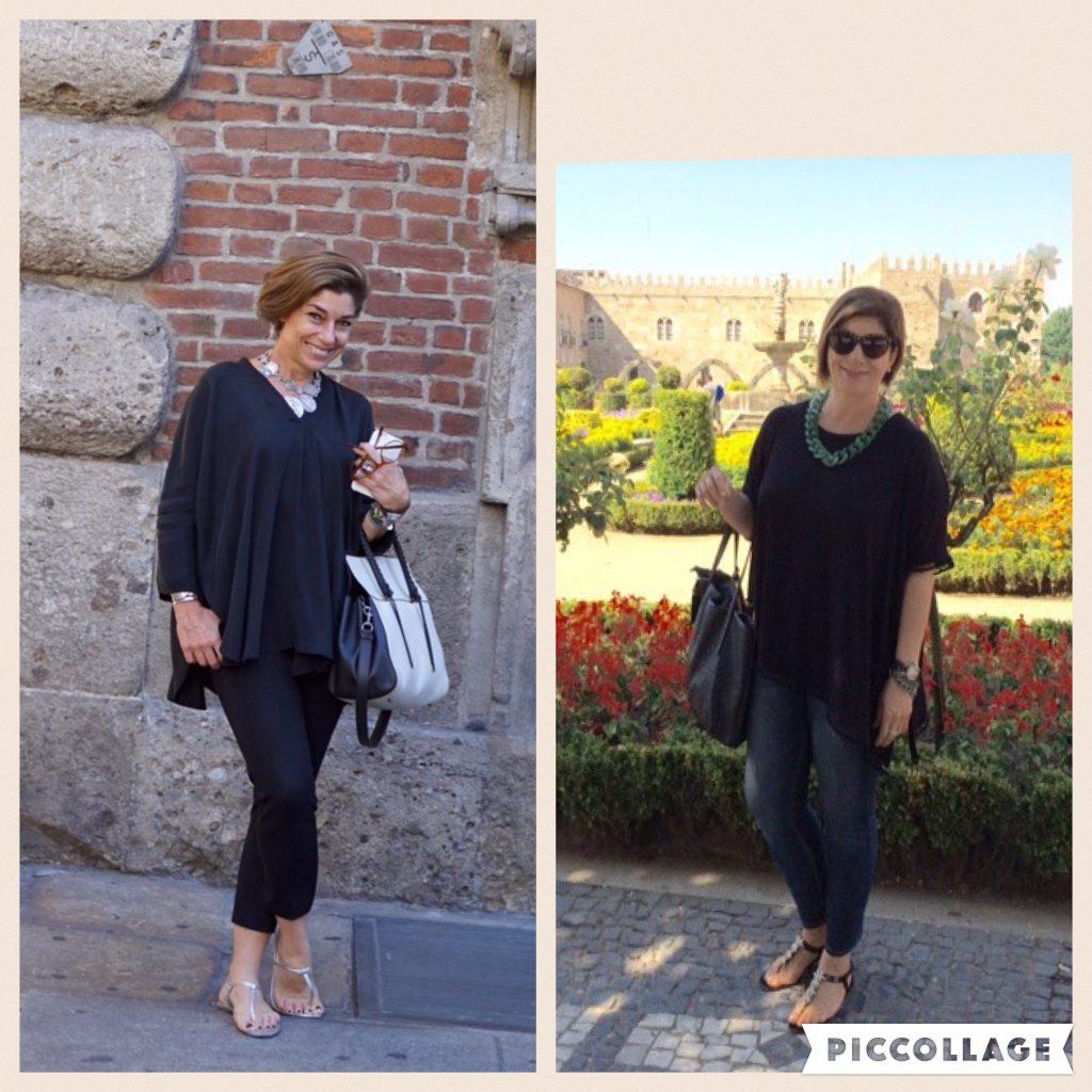 Tenho q fazer este relato ... qdo fiz 50 anos falei p/ mim mesma... ok Monica vc precisa agora ter cuidados especiais com o q veste... e daí conheci seu blog... me identifiquei na hora !!! 🙏🏻contribuiu muito para esta nova fase da minha vida!!😘a calça é Le lis blanc , a blusa HM(Portugal), a bolsa Arezzo, sandália Aldo(Portugal), e o colar comprei em Zurich... n lembro a loja . Bj😘