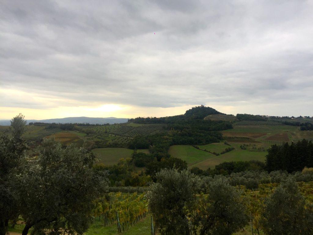 A Toscana em um dia nublado...