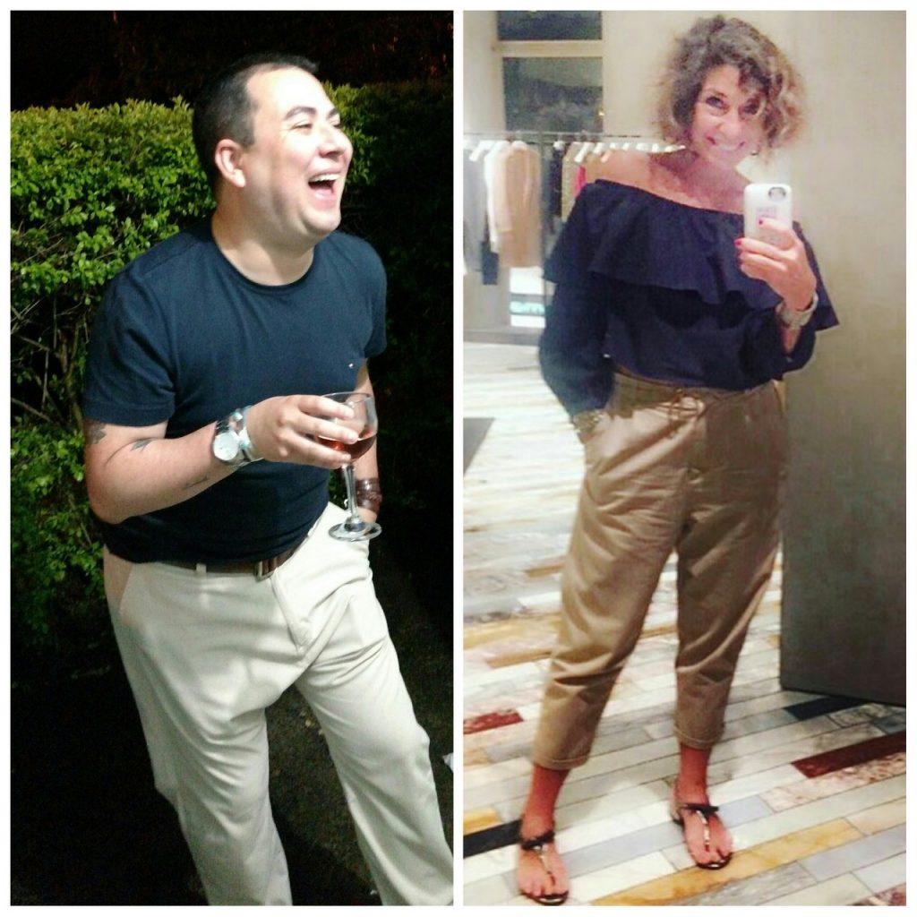 Camiseta Tommy Hilfiger, calça Zara e cinto Siberian. Me empolguei e achei outro look, do primeiro encontrinho que participei em SP! Camiseta listrada e calça Gap, blazer Zara.