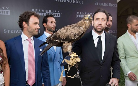 Nicolas Cage estava presente no evento