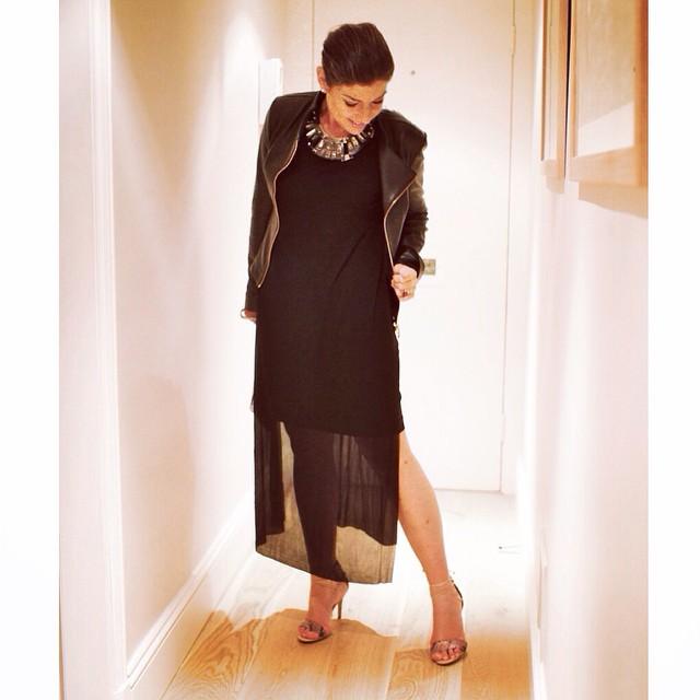 Vestido COS, jaqueta Patricia Motta