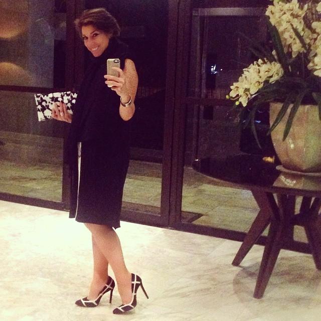 Meia estação: Vestido Angela Motta, sapato Corello