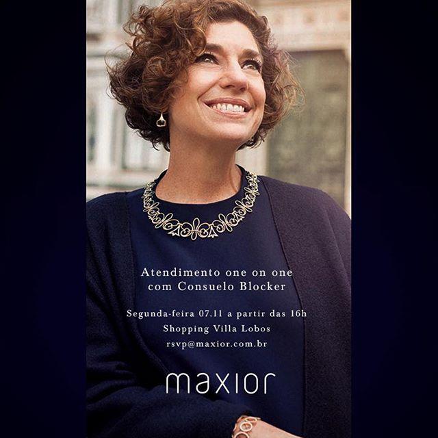 Hoje estarei na Maxior na Villa Lobos em São Paulo