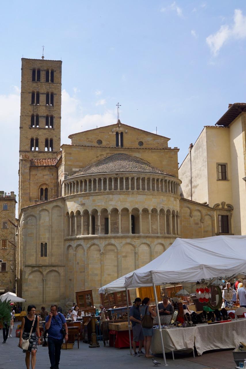 Feira de antiguidade em Arezzo